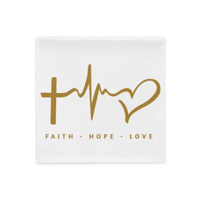 Faith Hope Love - Pillow Case
