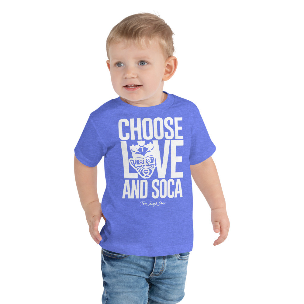 CHOOSE LOVE AND SOCA - Toddler Pemium Tee (White Print)