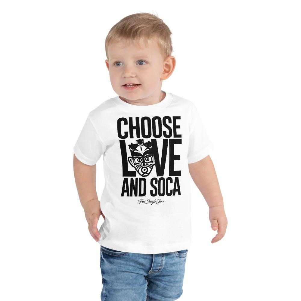CHOOSE LOVE AND SOCA - Toddler Pemium Tee (Black Print)