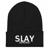 Slay demons' -Cuffed Beanie