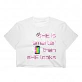 SHE IS.... / Equalize- HER / Women's Crop Top/ cutegirluglyselfie