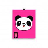 Panda Girl Photo paper poster by  CUTEgirlUGLYselfie