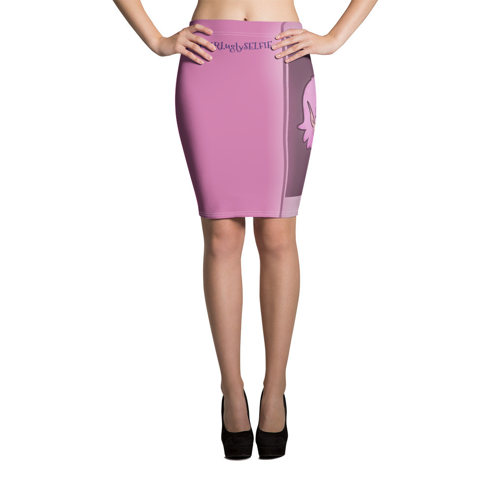 Women's Selfie Equalize-HER pencil Skirt by  CUTEgirlUGLYselfie