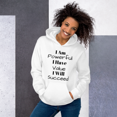 """I Am Powerful"" Unisex Hoodie"