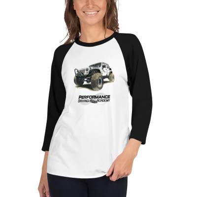 Jeep Rubicon Performance Driving Academy - 3/4 sleeve raglan shirt