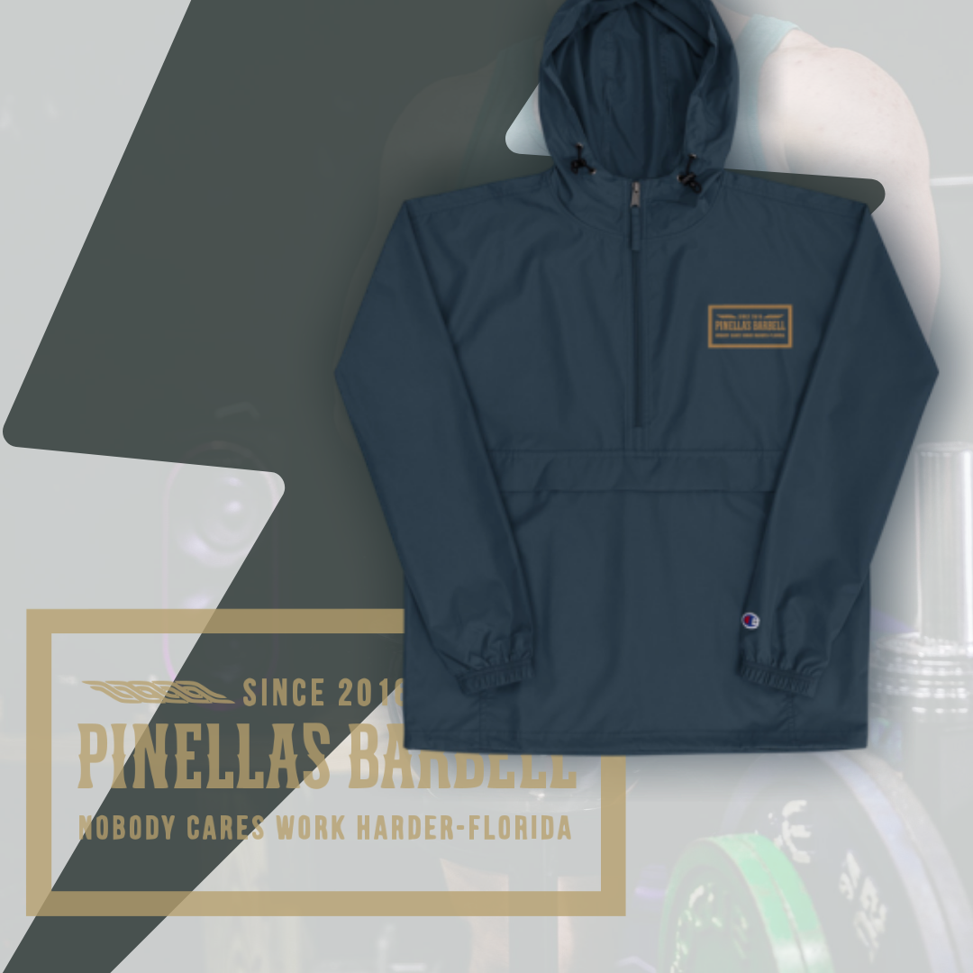 Embroidered Champion Packable Jacket Tag Design