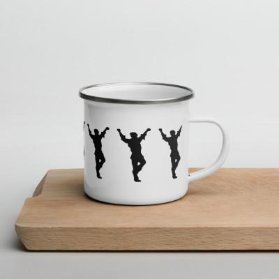W- Dancing Greek Enamel Mug