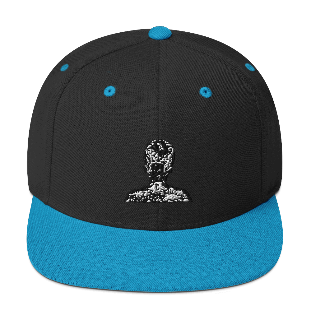 Black & White Snapback Hat