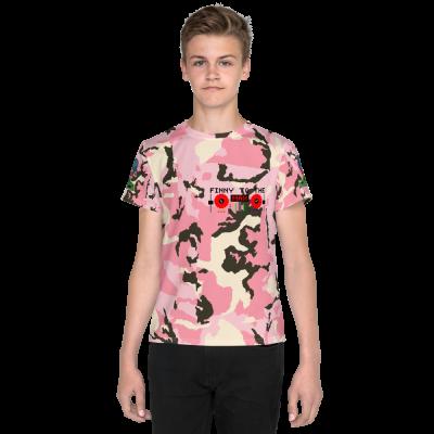 Pink Camo Youth T-Shirt