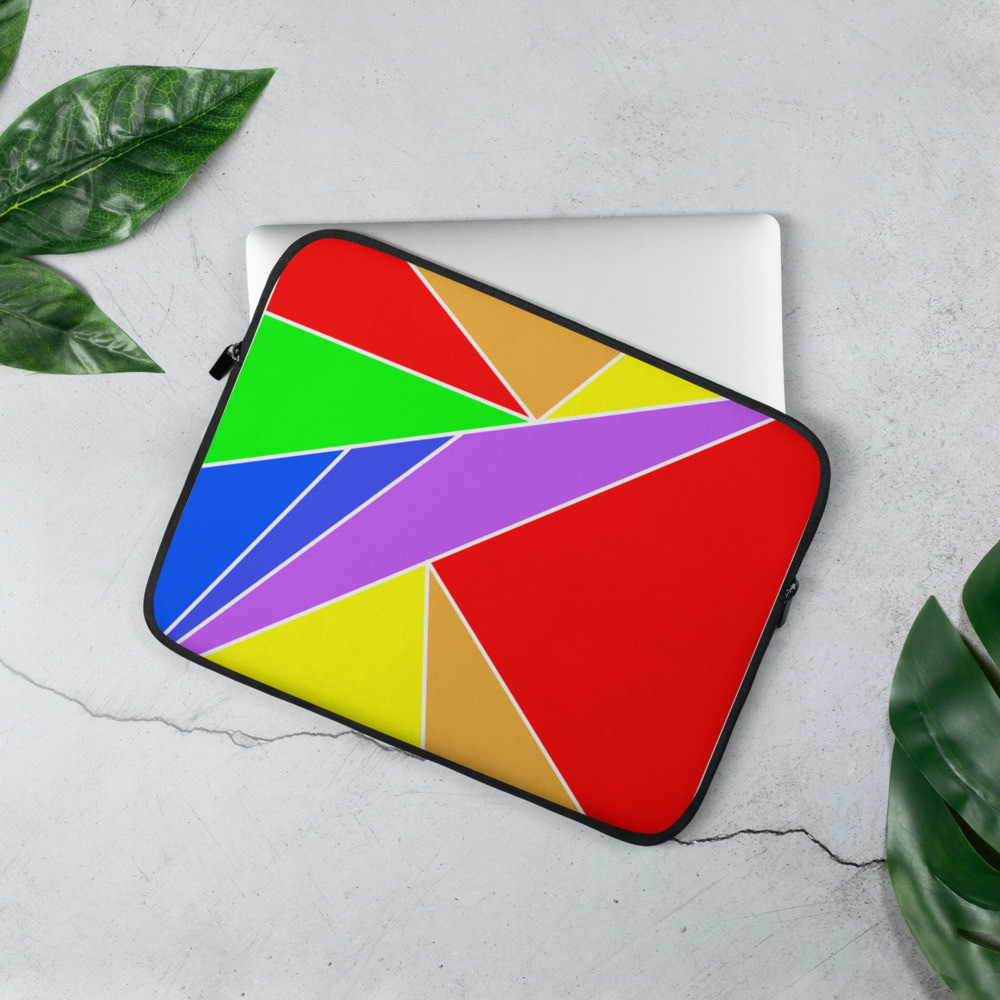 Rainbow Pattern Laptop Sleeve