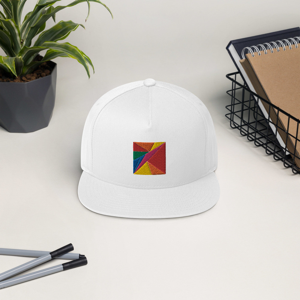 Rainbow Pattern Snapback Cap