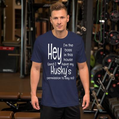 Husky Boss (WHtxt) Short-Sleeve Unisex T-Shi