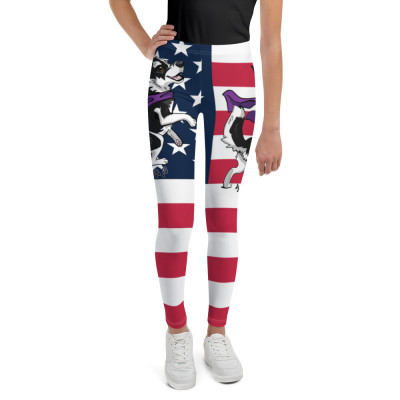 Youth Leggings USA Rock Star Merc