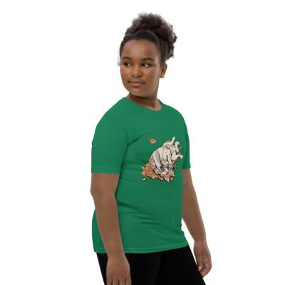 Youth Short Sleeve T-Shirt Balto Fall Leaves