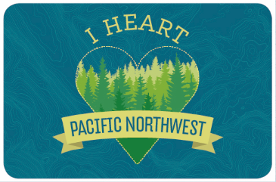 I Heart Pacific Northwest stickers