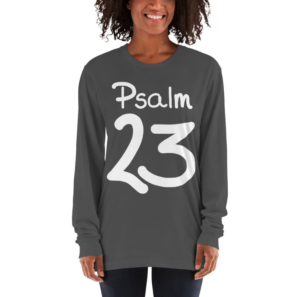 Psalm 23 the Lord is my shepherd - deydreaming mindful outerwear - long sleeve t-shirt