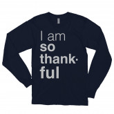 I am so thankful — long sleeve Navy t-shirt