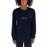 thank you - deydreaming mindful outerwear - long sleeve Navy t-shirt