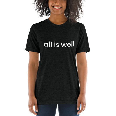 all is well - deydreaming mindful outerwear - short sleeve charcoal gray t-shirt