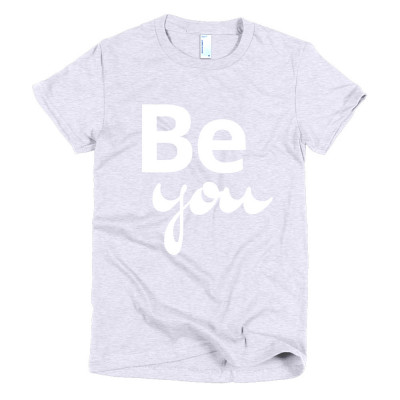 Be you - deydreaming mindful outerwear - gray short sleeve t-shirt