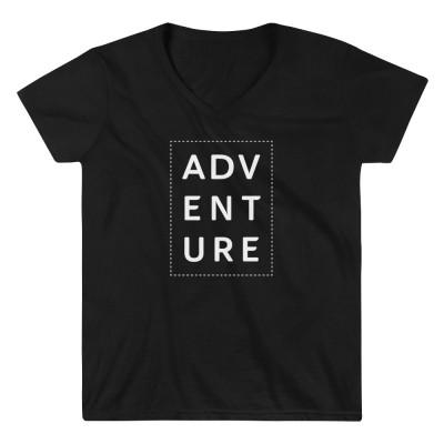 Adventure • Women's Casual V-Neck Shirt