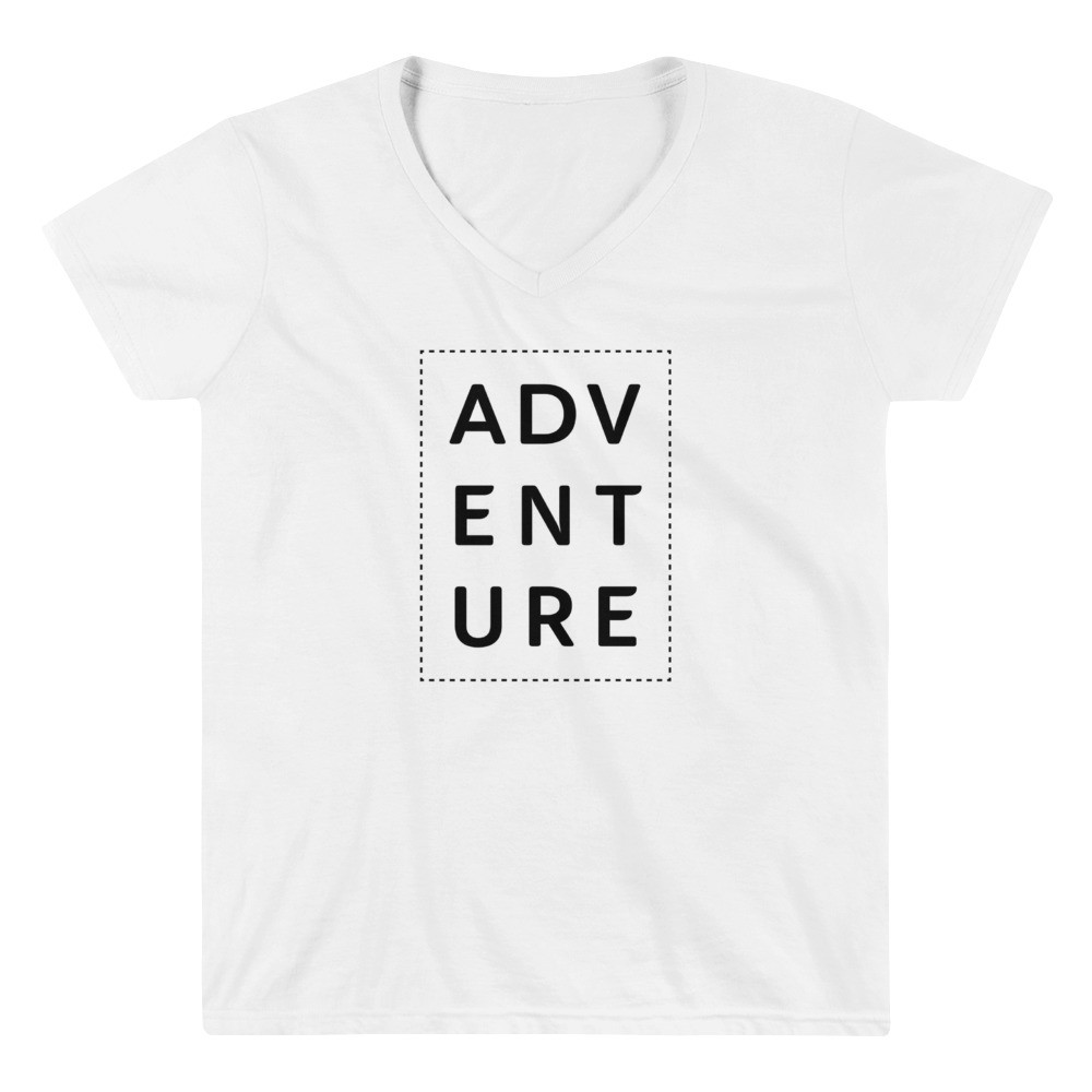 Adventure • Women's Casual V-Neck Shirt