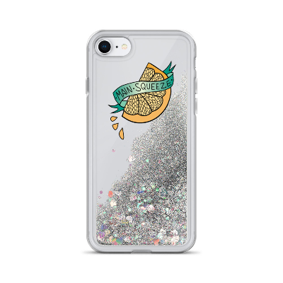 Main Squeeze Lemons • Liquid Glitter Phone Case