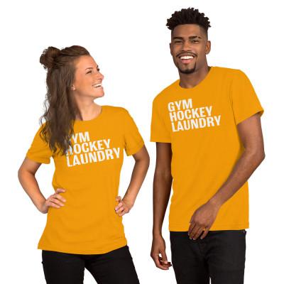 Short-Sleeve Unisex T-Shirt: Gym, Hockey, Laundry