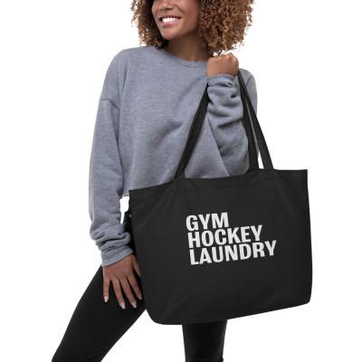 Large Organic Tote Bag: Gym, Hockey, Laundry