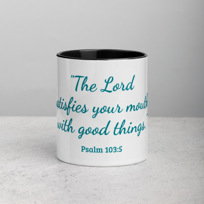 The Lord Satisfies Mug with Color Inside