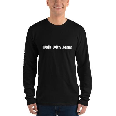 Walk With Jesus Black Long sleeve Unisex t-shirt
