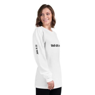 Walk With Jesus White Long sleeve unisex t-shirt