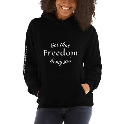 Freedom Black Unisex Hoodie