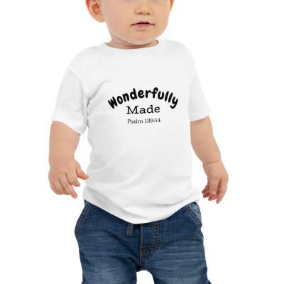 Wonderfully Made Baby Jersey Unisex Short Sleeve T-Shirt