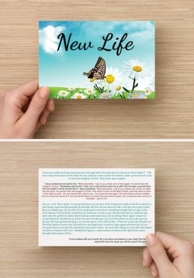 NEW LIFE Evangelism Postcards