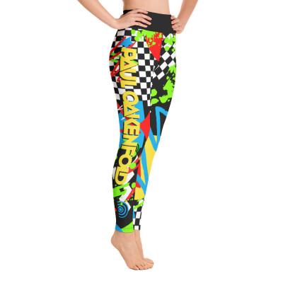 Paul Oakenfold - Abstract Pop Art Yoga Leggings