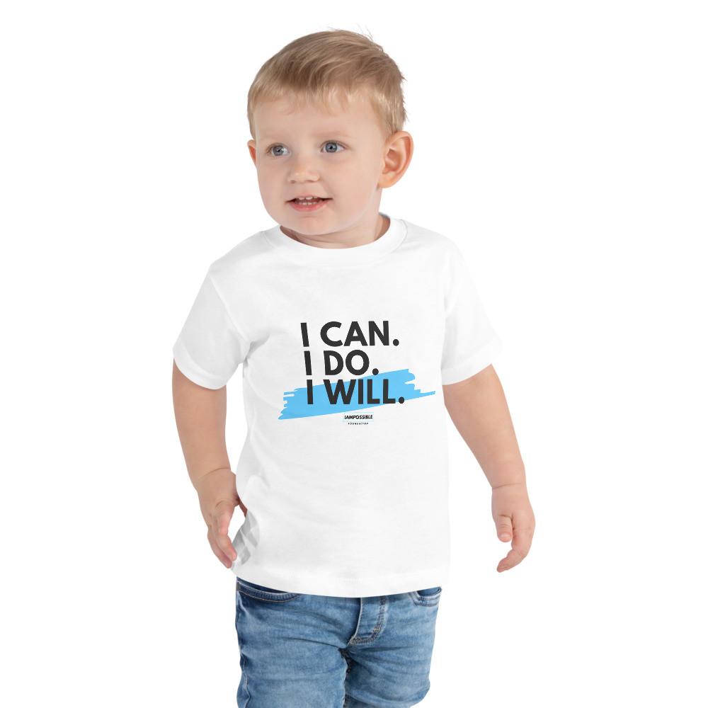 I Can. I Do. I Will. Toddler Short Sleeve Tee