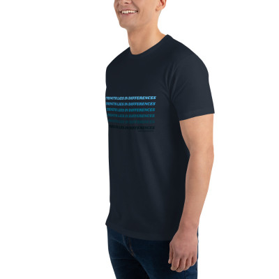 'Strength Lies in Differences' Ombre Mens Short Sleeve T-shirt