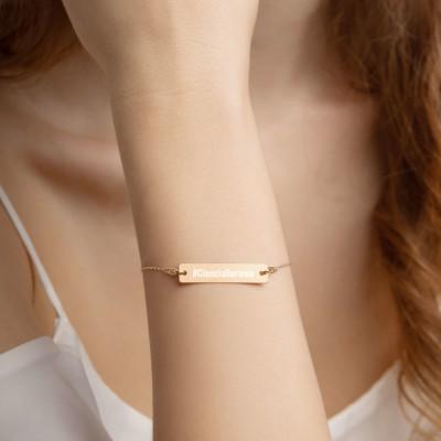 Ciencia Boricua Engraved Bar Chain Bracelet