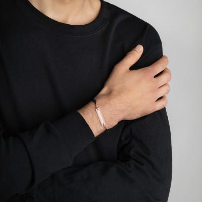 Ciencia Boricua Engraved Silver Bar String Bracelet