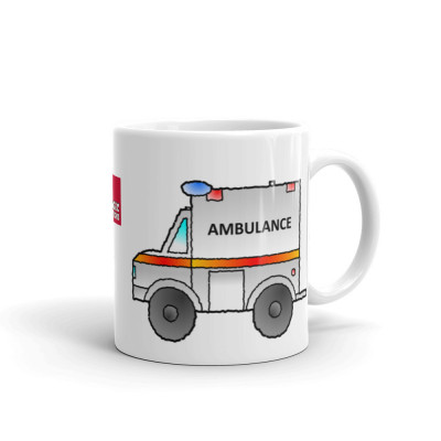 Ambulance Mug Cartoon Ambulance Mug Emergency Services Appliance Mug