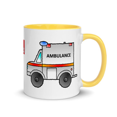 Ambulance Mug Emergency Services Mug Hospital Mug With Color