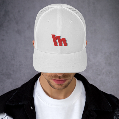 M Logo Embroidered Trucker Cap