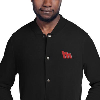 M Logo Embroidered Bomber Jacket