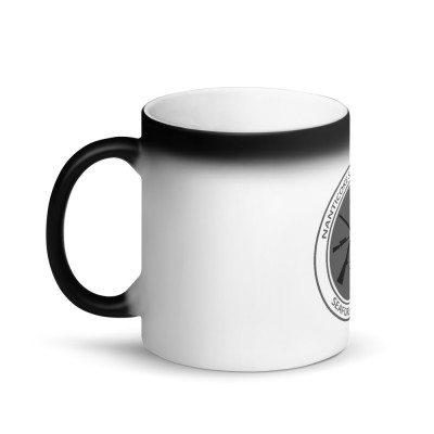 Matte Black Magic Mug - Grey Logo