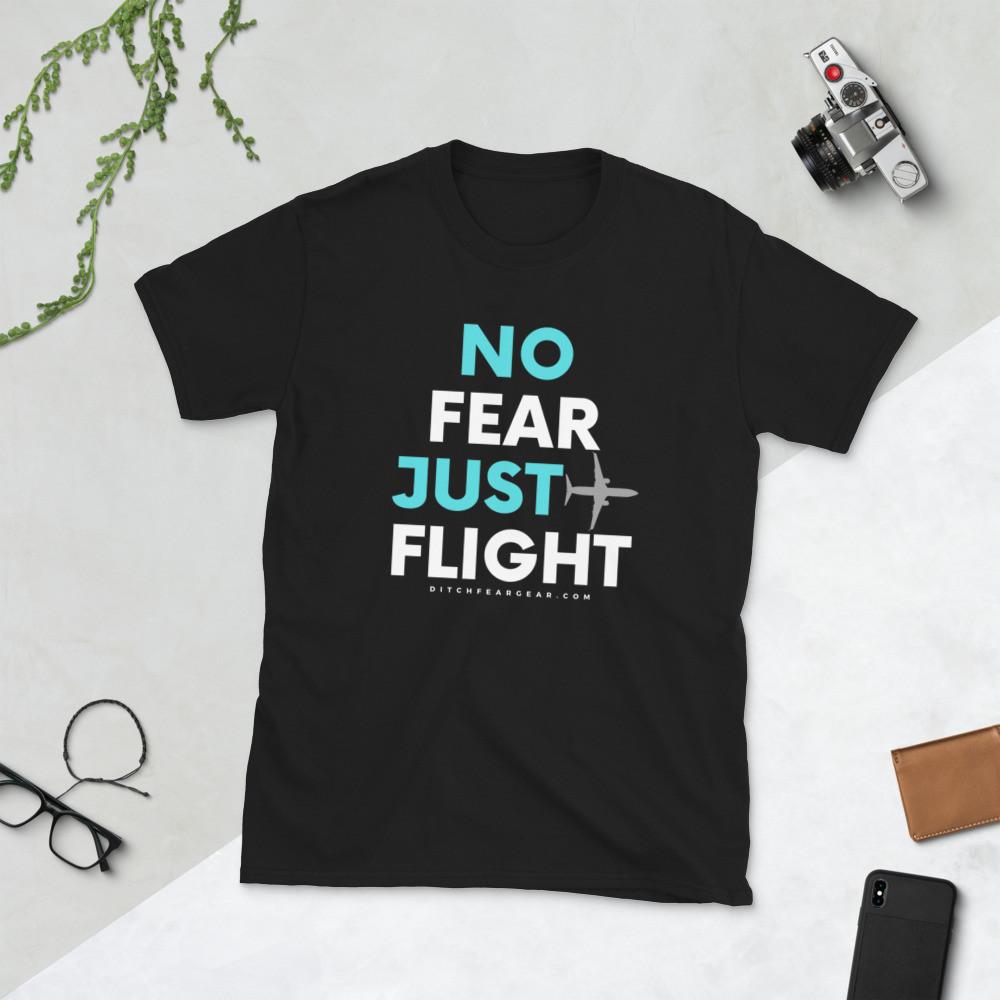"""""""JUST FLIGHT"""" Unisex Tee (drk)"""
