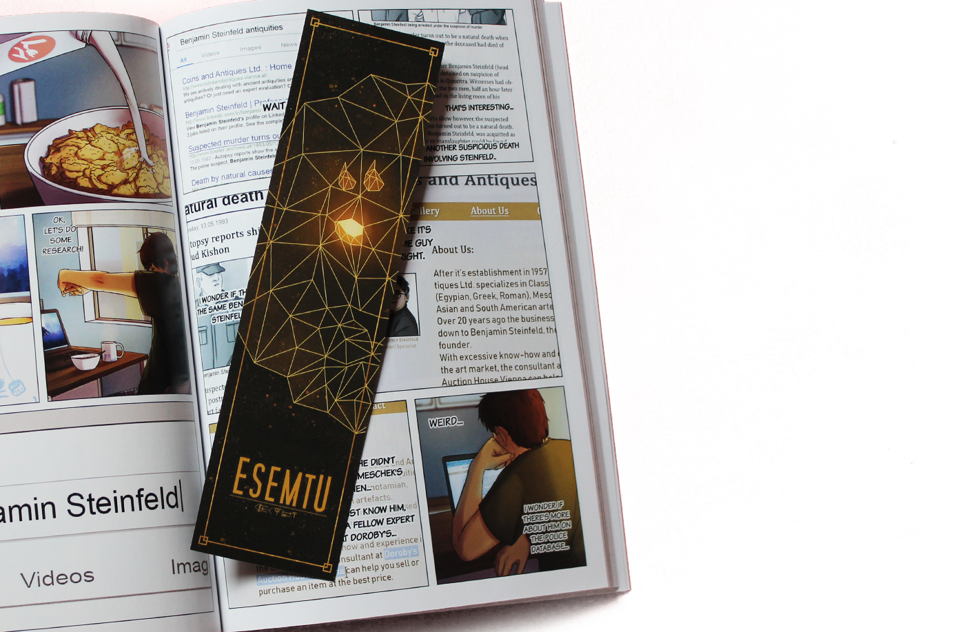 Never forget where you last left off with this cool new bookmark!