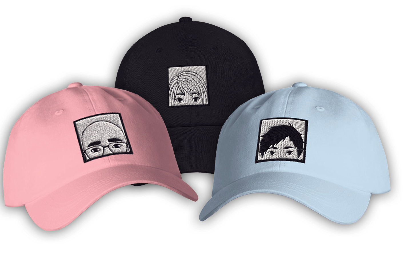 Want to show your support for your favourite character? No problem with these cute hats!