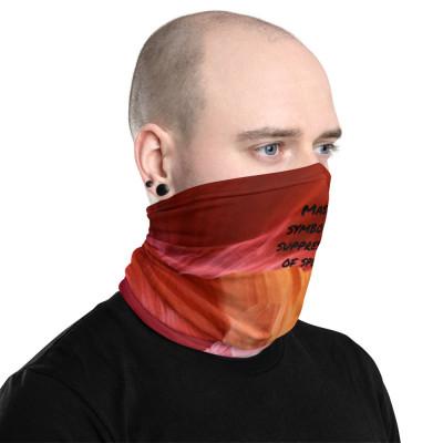 Masks symbolize suppression of speech.  color-redmulti