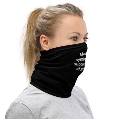 Masks symbolize suppression of speech. color-Black